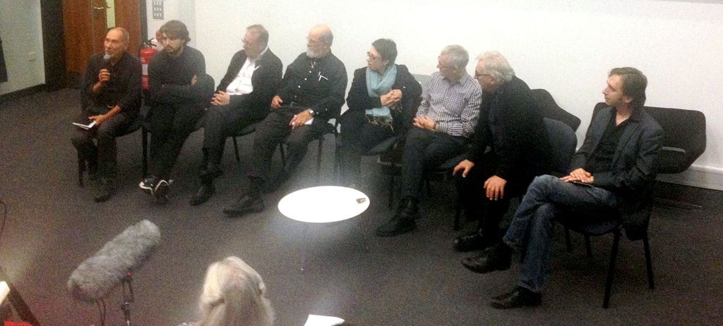With artists Ernest Edmonds, Manfred Mohr, Frieder Nake and Roman Verostko. In discussion with: Laura Sillars (Site Gallery), Douglas Dodds (V&A), Francesca Franco (researcher), Richard Sides (artist), Alex May (artist)