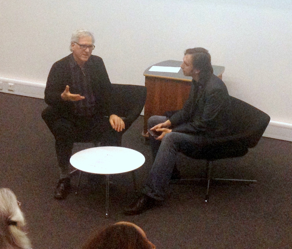 Manfred Mohr and Alex May in discussion