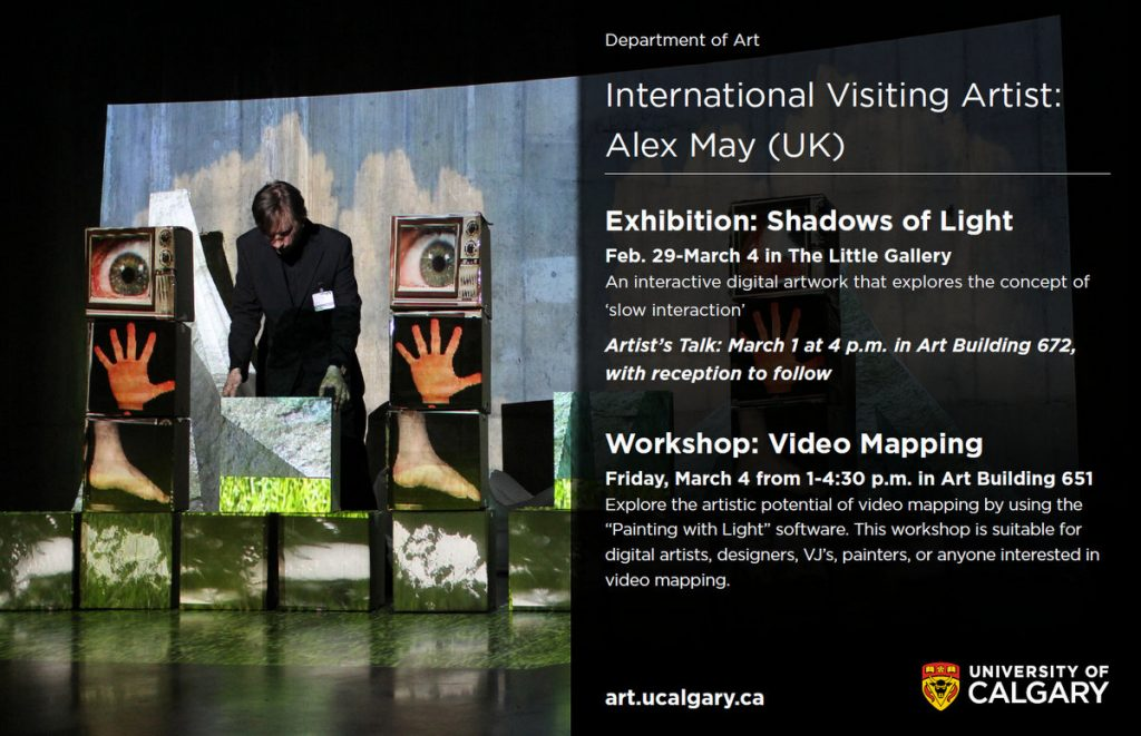 University of Calgary - International Visiting Artist - Alex May