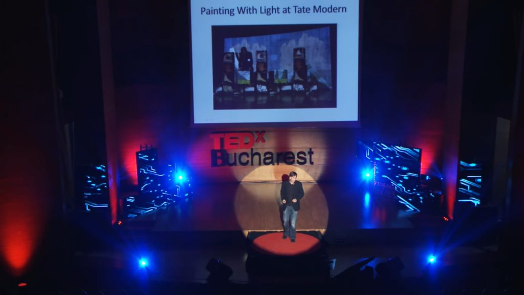 digital art talks at TEDx Bucharest by Alex May